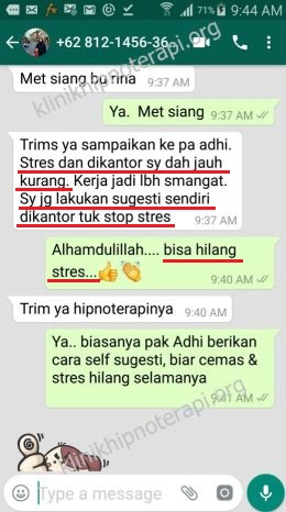 Hipnoterapi Stress